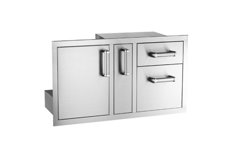 53816S access door platter storage double drawer