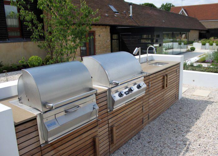 Einbaugrill outdoor kuche for Outdoor kuche gunstig
