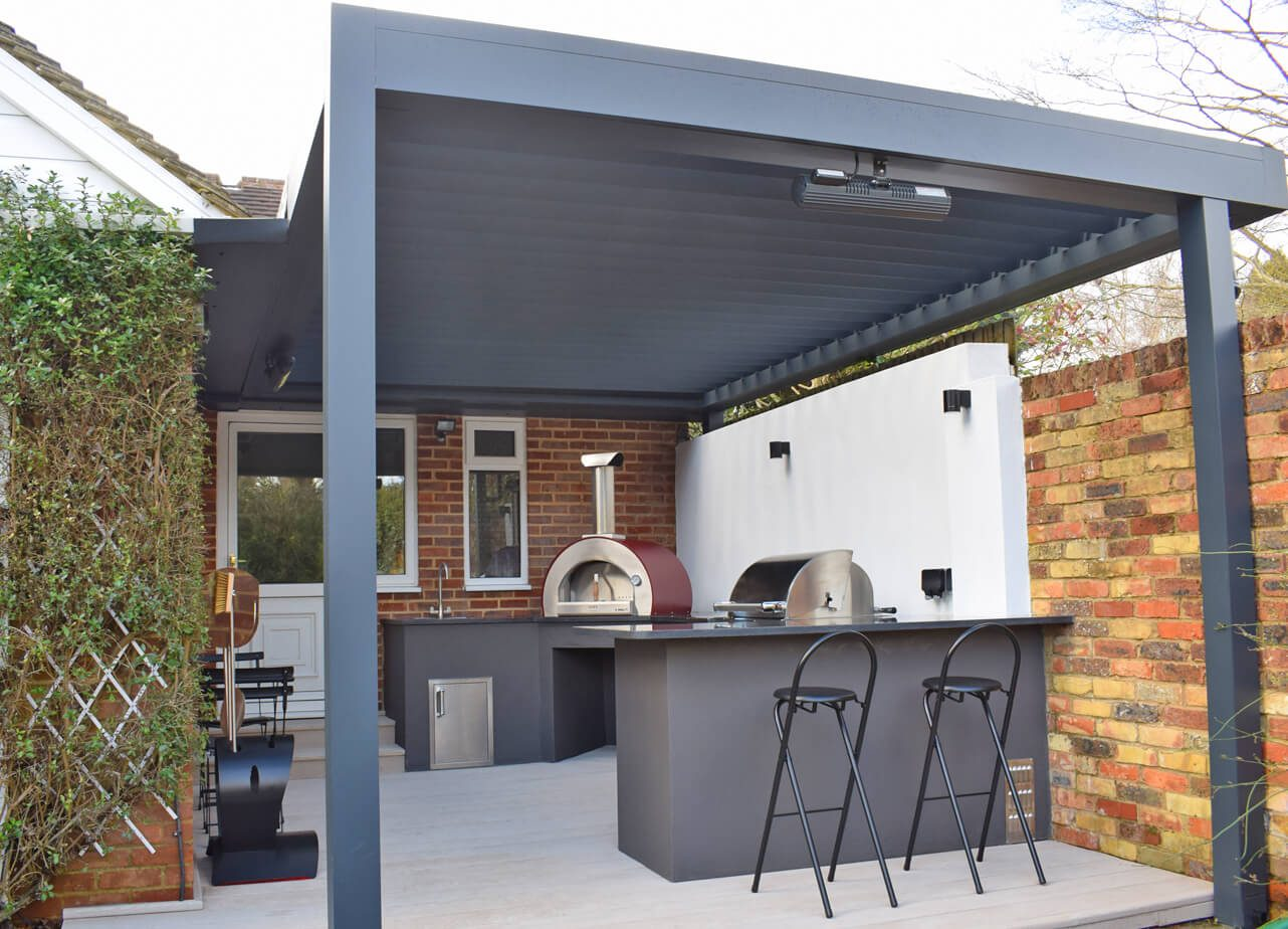 Outdoor Kitchen under Canopy