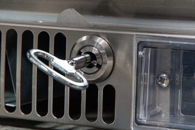 Fridge hot spot lock and key