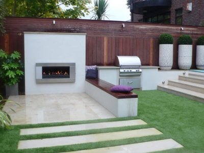 Outdoor kitchen London garden designer