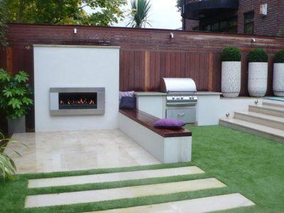 Outdoor kitchen London garden designer