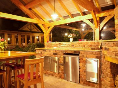 Urban landscapes outdoor kitchen