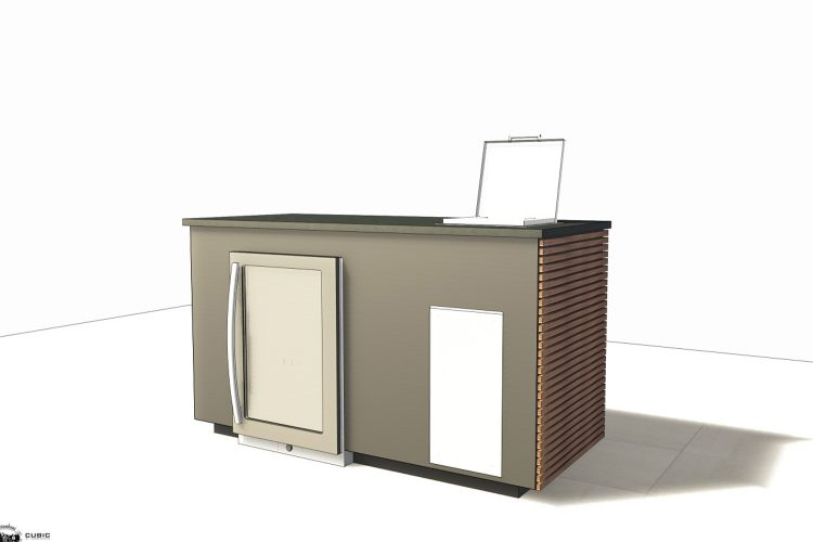 CUBIC Outdoor Fridge Unit