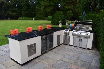 Orange Outdoor Kitchen