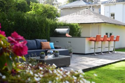 Orange Outdoor Kitchen